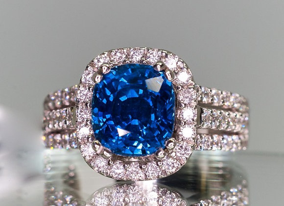 3.45ct High End Sapphire Ring