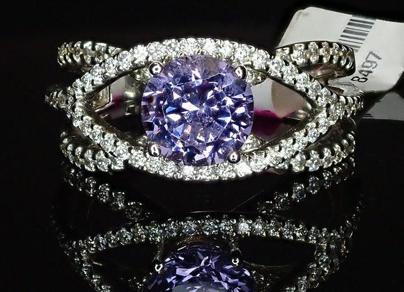 1.53ct Violet Spinel Ring