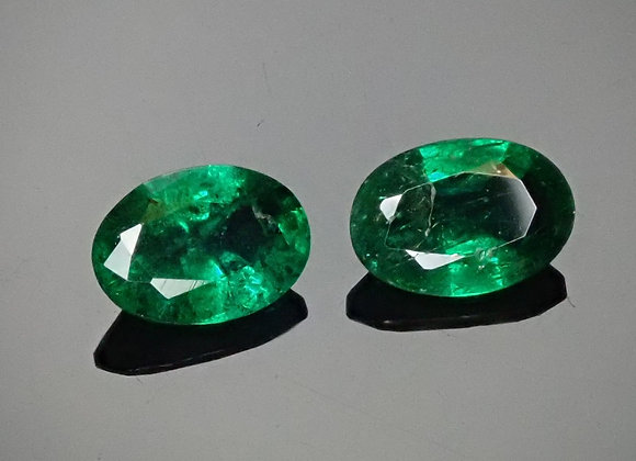 .78tcw Emerald Pair