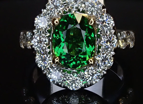 2.14ct Tsavorite Ring