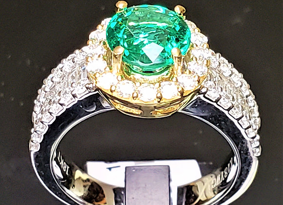 1.44ct Zambian Emerald Ring