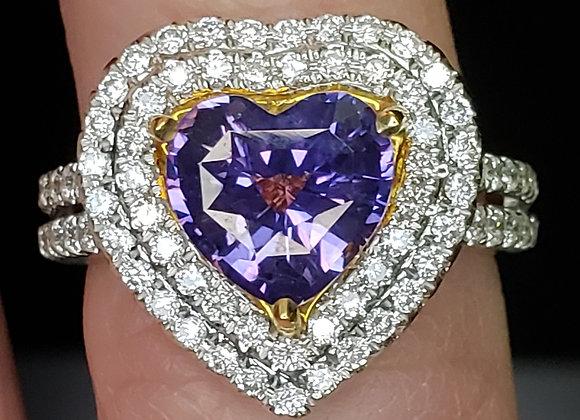 2.40ct Purple Sapphire Ring