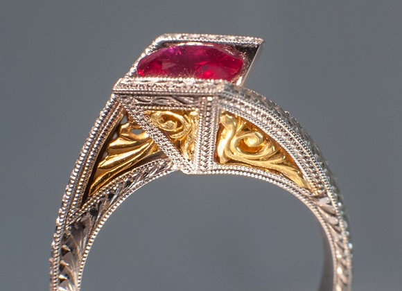1.20ct Burma Ruby Ring