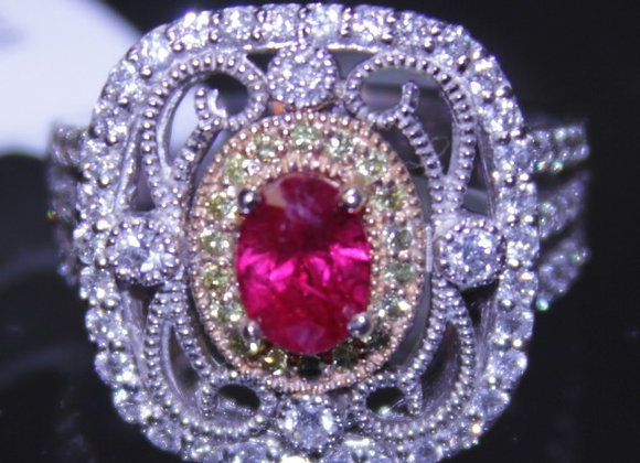 1.12ct Burmese Ruby Ring