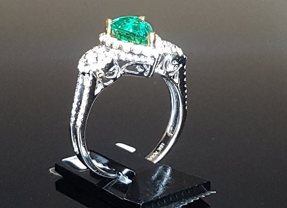 1.08ct Emerald Ring