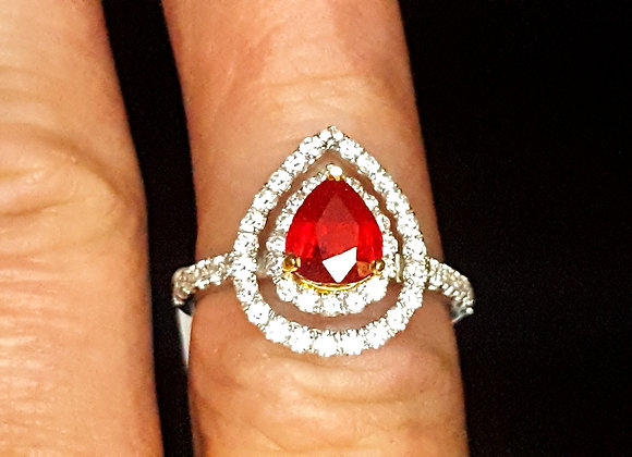 1.62ct Ruby Ring