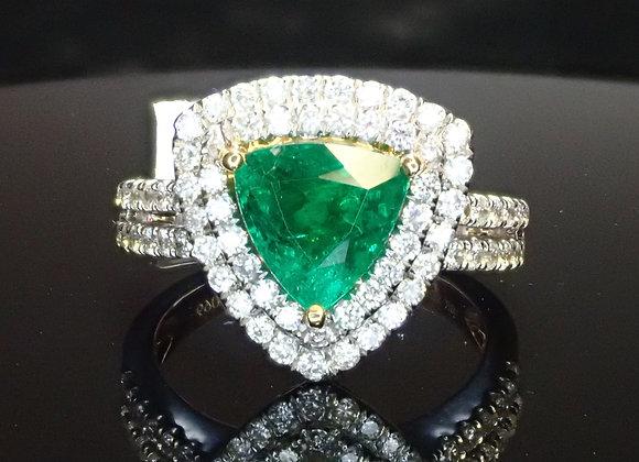 1.15ct Emerald Ring
