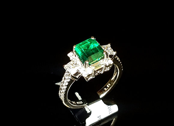 1.64ct Emerald Ring