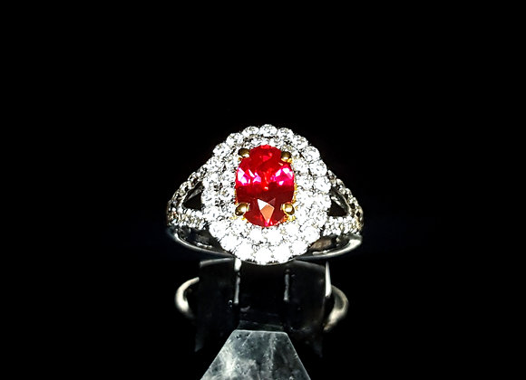 1.51ct Burma Ruby Ring