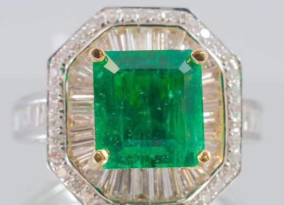 3.14 ct Emerald Ring