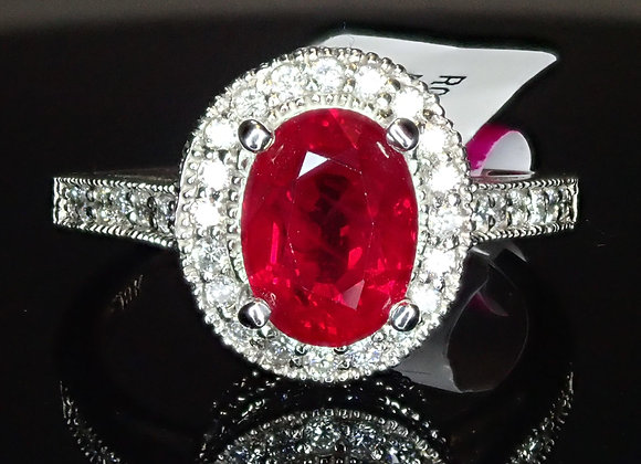 2.02ct Burma Ruby Ring