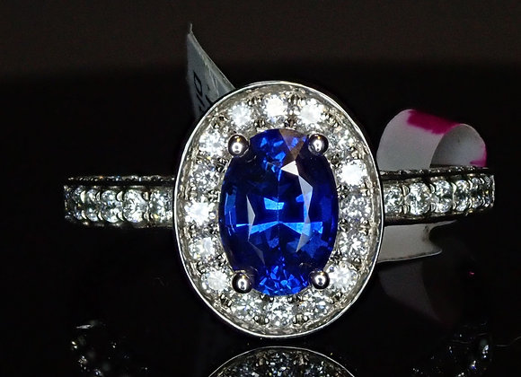 .96ct Blue Sapphire Ring