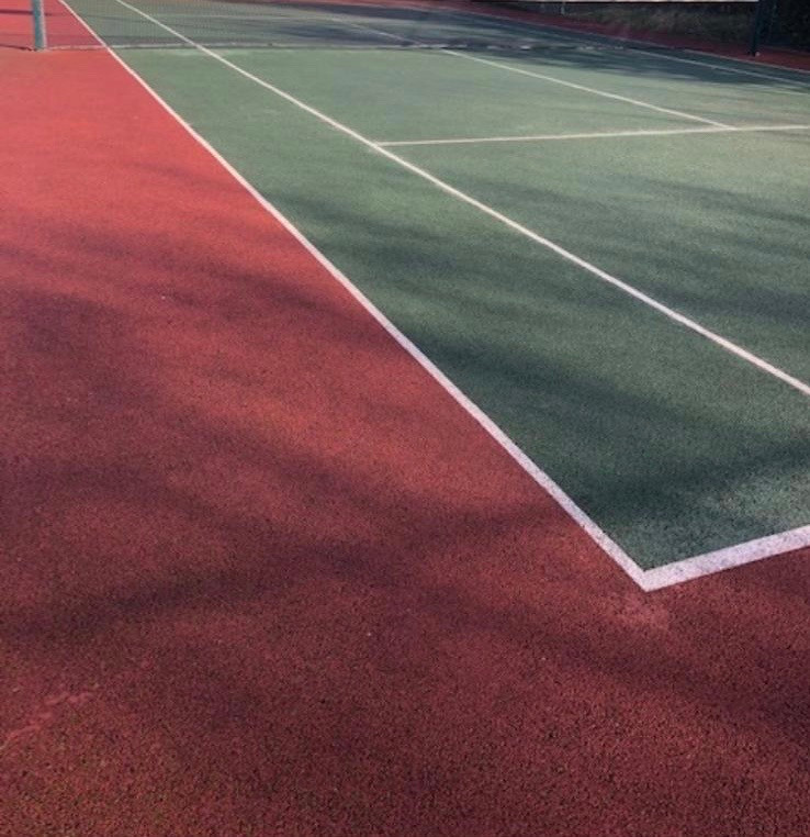 Synthetic Grass Tennis Court After Service