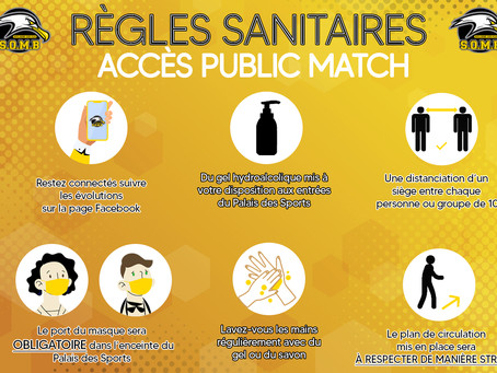🧬RÈGLES SANITAIRES - ACCÈS PUBLIC MATCH (JEUNES & SENIORS)🎟