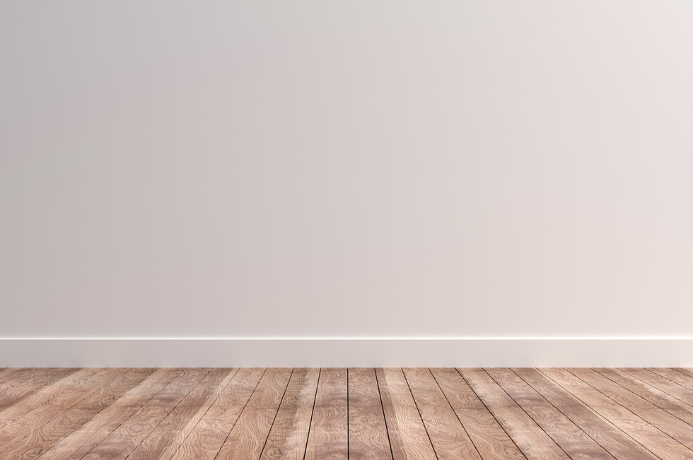 Plain White Wall with Wooden Floors