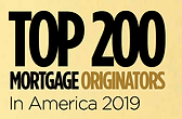 Top 200 Mortgage Originators in America 2019 Badge