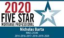 Nicholas Barta, 2020 Five Star Mortgage Professional