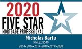 Nick Barta 2020 Five Star Mortgage Profe