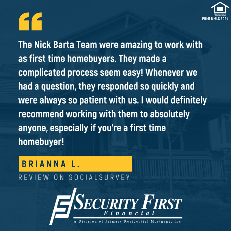 Colorado Mortgage Company Review - First Time Homebuyer - Security First Financial