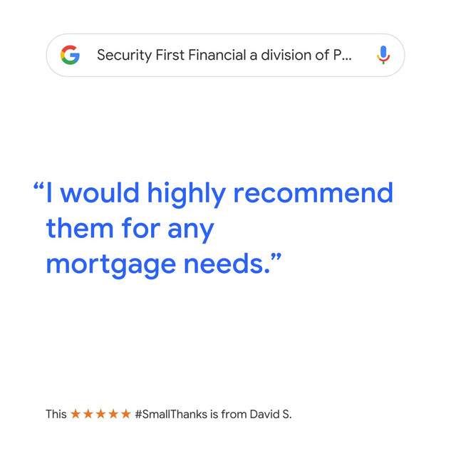 Google Review for Security First Financial in Englewood, Colorado