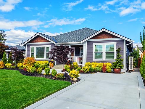 The Exterior of a Modern Custom Suburban Home