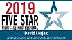 David Lesjak 2019 Five Star Mortgage Professional