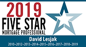 Dave Lesjak 2019 Five Star Mortgage Professional