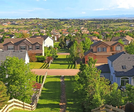Houses in Greenwood Village, Colorado,
