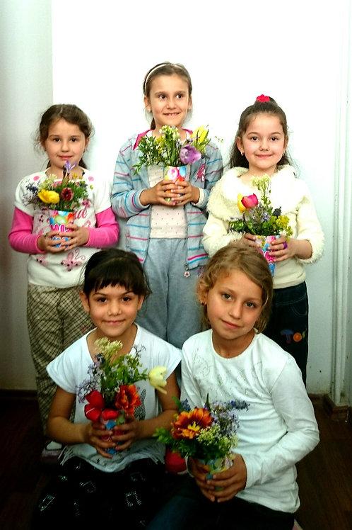 Atelier de creatie florala pentru copii