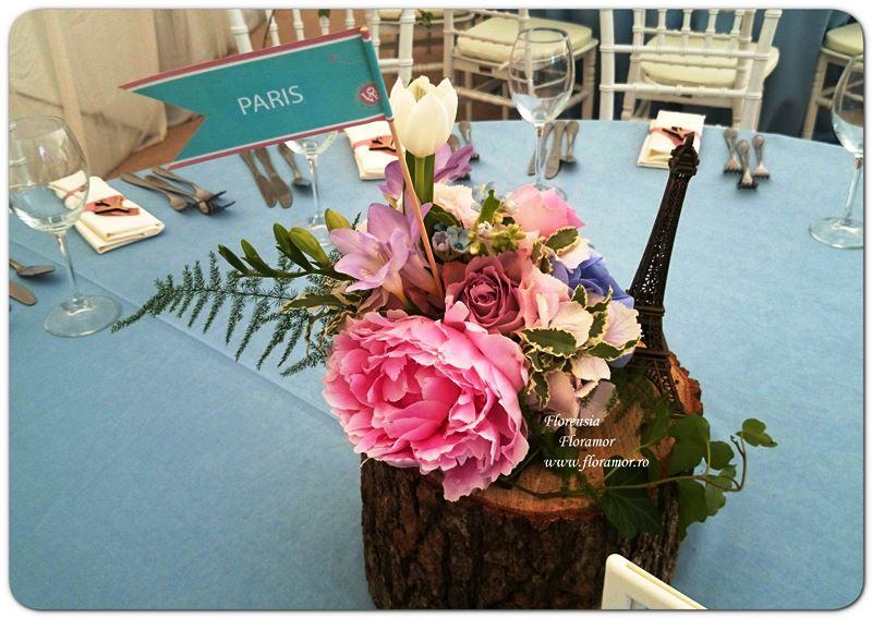 Travel wedding flowers