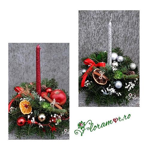 Set 2 aranjamente cadou pentru sarbatorile de iarna