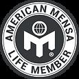 American Mensa Life Member badge