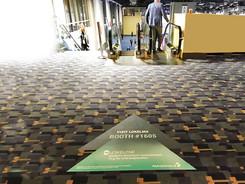 Exhibit Hall Entrance Floor Decals
