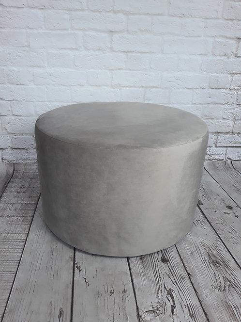 Duża pufa okrągła GŁADKA