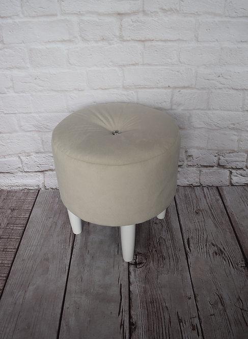 Pufa okrągła Swarovski toaletka nóżki