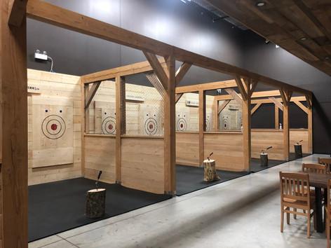 Viking's Landing indoor axe throwing facility in Burlington