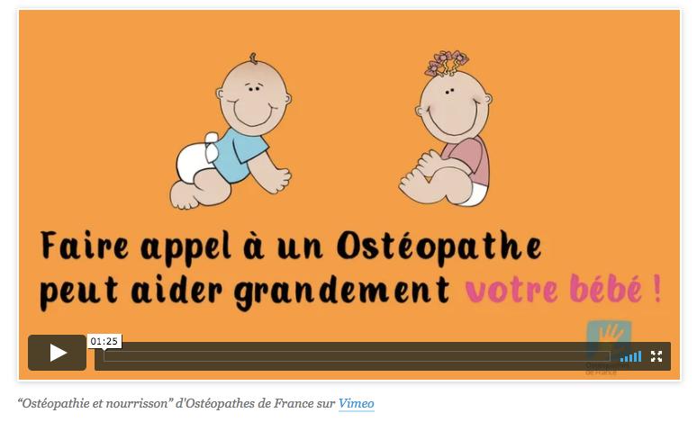 L'ostéopathie et le bébé