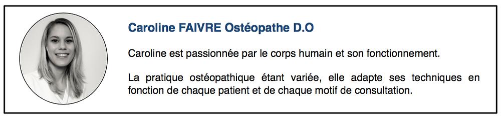 Caroline Faivre Ostéopathe - ostéopathe dardilly
