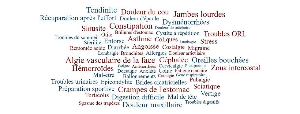 Motifs de consultations - Caroline Faivre Ostéopathe Dardilly