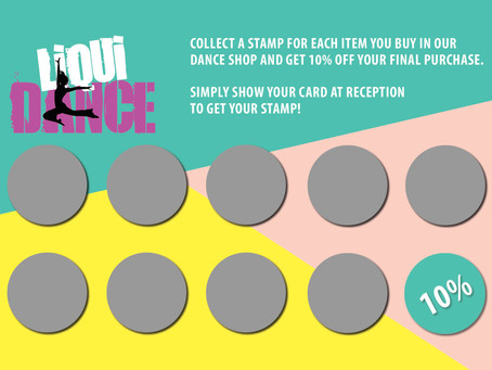 Dance Shop Loyalty Card