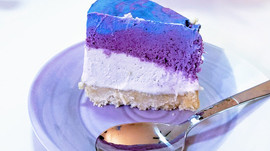 "blueberry coconut ""ice-cream"" cake"