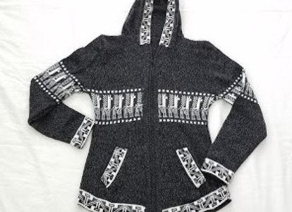 zippered hoodie sweater