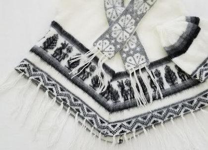 white poncho