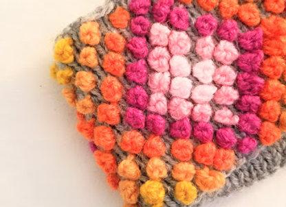 warm orange and.pink headband