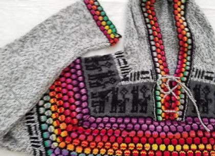 rainbow hoodie sweater