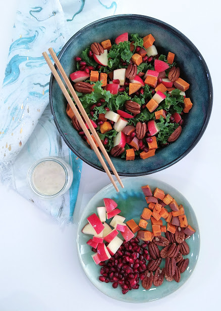 Kale salad that tastes like dessert!