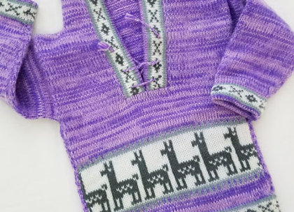 purple llama sweater