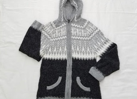 zippered hoodie sweater