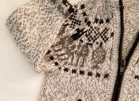 light gray llama hoodie