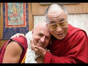 Mattieu Ricard with H.H. the Dalai Lama